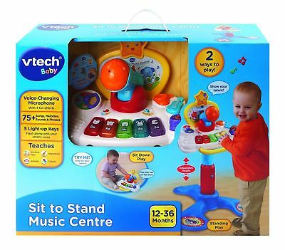 Vtech Baby Sit To Stand Music Centre - Ages 12 - 36 Months  *brand New In Box *