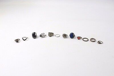 Collection of 12 x .925 STERLING SILVER Rings MIXED Styles inc Birmingham - 41g