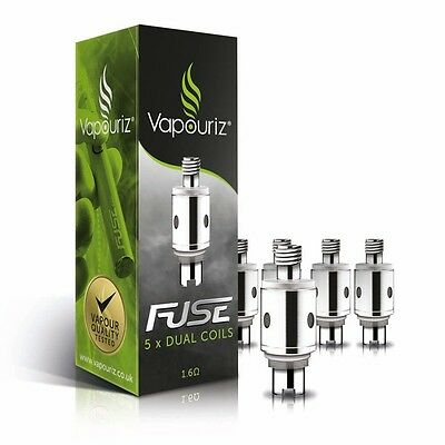 Vapouriz Fuse Replacement Bottom Coil Spare Clearomizer Heads FREE P&P