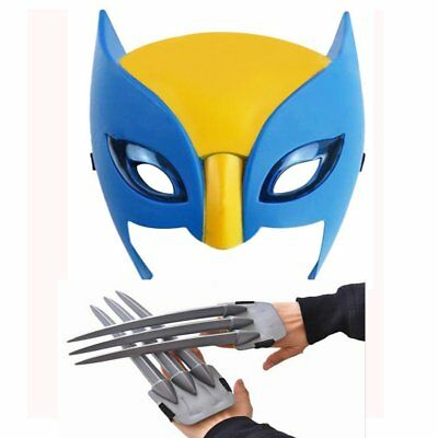 Wolf Wolverine Claws Plastic Toys & Wolverine Mask Cosplay Props Halloween Gift