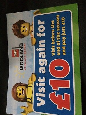 Legoland Voucher - October entry for £10. Five available