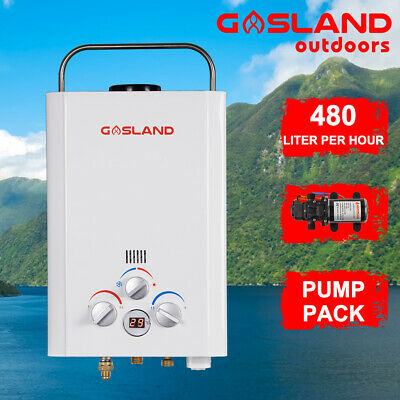 GASLAND Portable LPG Gas Hot Water Heater Instant Camping Shower 6L Pump Pack