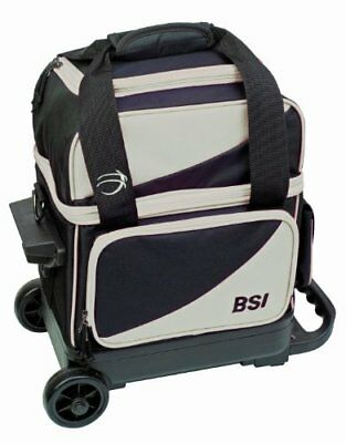 BSI Single Ball Roller Bowling Bag, Black/Grey by BSI