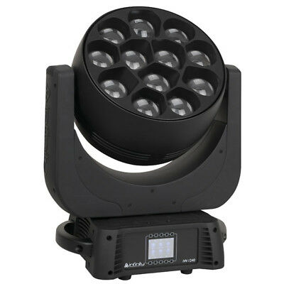 Infinity iW-1240 RDM LED Moving Head Wash RGBW LED Moving Light Effekt schwarz