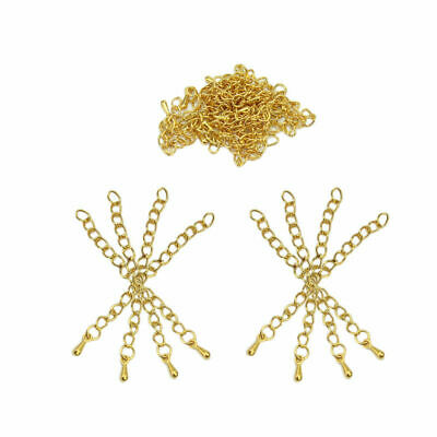 20 PCs Gold Plated Extended&Extension Jewelry Chains/Tail Extender 50-60mm