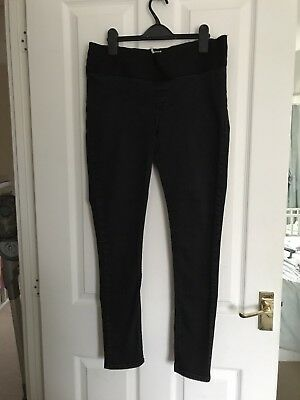 Topshop Maternity Black Under The Bump Skinny Jeans Size 14 L32