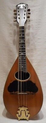 Old Vintage Bowl Back Mandolin P. Lepore Napoli. My. Chicago Maple Back