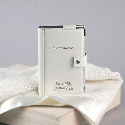 Personalised Leather Bible Cover with Bible, Cream Grained Leather (OHSO820-7A1)