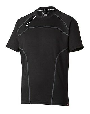 Cube Motion Round Neck Shirt Short Sleeve Cycling Jersey Black New Size M #11129