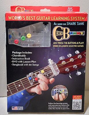 New Open Box Chord Buddy Guitar Learning System With Extra