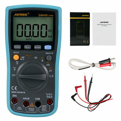 DM400 Automatic/Manual Large LCD Screen Display AC/DC Digital Multimeter Test