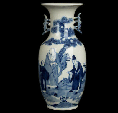 China 19. Jh. Qing - A Chinese Blue & White Porcelain Vase - Chinois Vaso Cinese