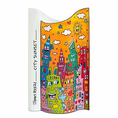 "James Rizzi: Porzellan Vase ""CITY SUNSET"", groß (26 cm), Goebel, neu & 1. Wahl"