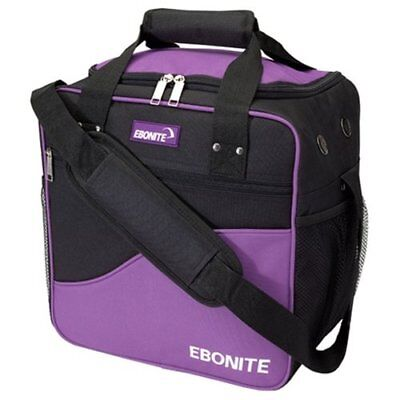 Ebonite Basic Single Bowling Bag- Purple/Black