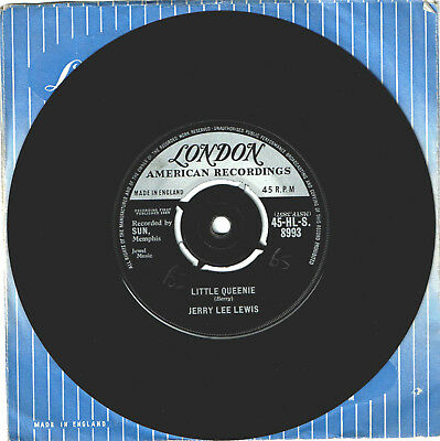 Jerry Lee Lewis, Little Queenie- 1959 London UK issue 45 For Your Jukebox