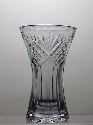 Beautiful Design Lead Crystal Cut Glass Heavy Vase