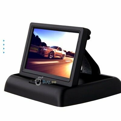 "Foldable 4.3"" TFT LCD Color Car Reverse Rear View Monitor For Backup Camera DVD"