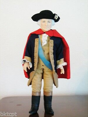 "Effanbee Doll 16 Inch ""GEORGE WASHINGTON"" Presidents Collection 1983 - Box/Tag"