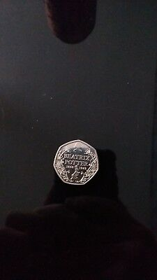 beatrix potter 50p *rare coin* uncirculated silver proof