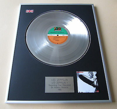 LED ZEPPELIN Led Zeppelin I LP Platinum Presentation Disc