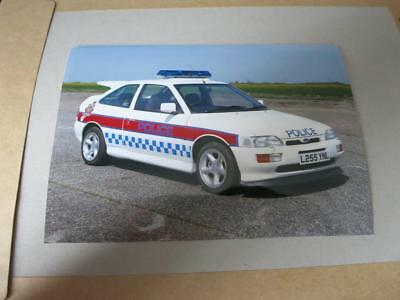 FORD - ESCORT RS COSWORTH 4x4 POLICE CAR 1990s - PRESS MEDIA PHOTOGRAPH