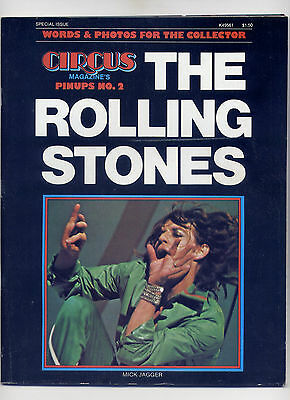 CIRCUS PINUPS No. 2 ROCK MAGAZINE 1975 ~ ALL ROLLING STONES ISSUE ~ MICK JAGGER