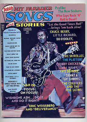Hit Parader #111 Rock Magazine OCT 1973 ~ FREE SHIP~ CHUCK BERRY c. WISHBONE ASH