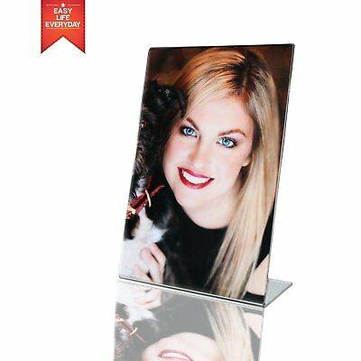 4x6 Acrylic Photo Frame -Sign Holders , Clear Transparent Display - pack of 6 se