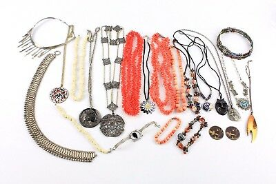 Large Lot of TRIBAL / STATEMENT / HAND-MADE Jewellery & Accessories inc. BONE