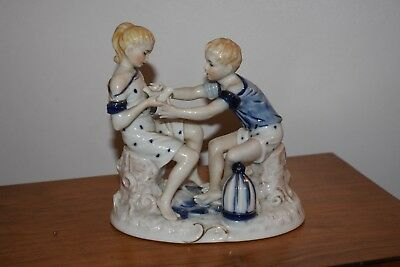 Lovely Vintage Ceramic Ornament/Figurines, Continental 5 Prong Crown Backstamp