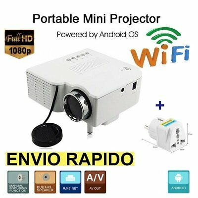 HD 1080P 3D  Mini Proyector Home Teatro LCD+LED SD/AV/VGA WiFi AV PC MD
