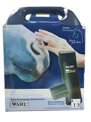 Wahl Horseline Pro Series Mains Rechargeable Animal Trimmer-1472Case