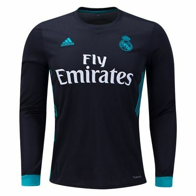 Adult M LS Real Madrid Away Shirt 2017-18 with Kroos 8 La Liga & FIFA M147