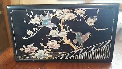 Old Japanese Inlaid Lacquer Box