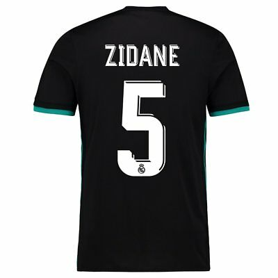 Adult S Real Madrid Away Shirt 2017-18 with Zidane 5 La Liga & FIFA M147