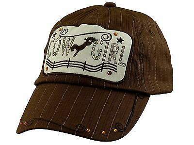 Ladies Cap Cowgirl Brown