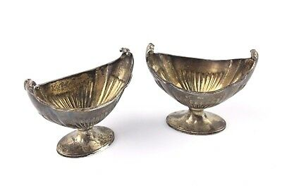 Antique 1892 London Hallmarked STERLING SILVER Condiment Dishes - 101g