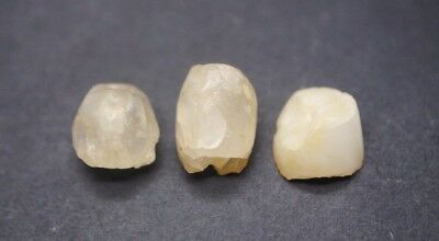 Group of three ancient Egyptian rock crystal beads 1500 BC