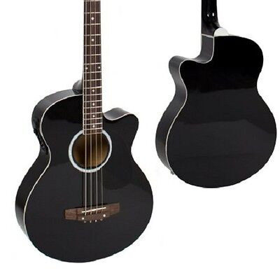 Acoustic Electric  Bass Guitar With Equalizer solid construction