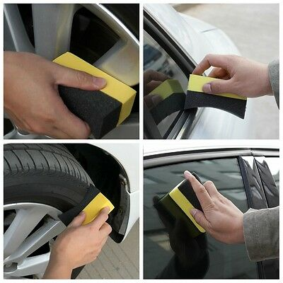 Car Tire Cleaning Sponges Professional Tyre Dressing Applicator Curved Foam Tool