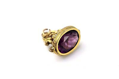 Lovely Vintage ROLLED GOLD Purple Stone Seal / Stamp