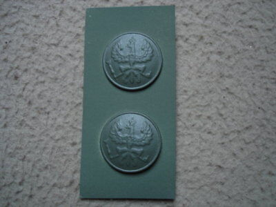 German WWI collar rank insignia - buttons - Corporals