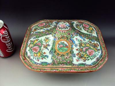 Impressive Chinese Antiques Oriental Porcelain Famille Rose Tureen