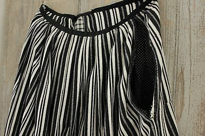 Peasant Skirt Antique French workwear work wear Chore woman's black white