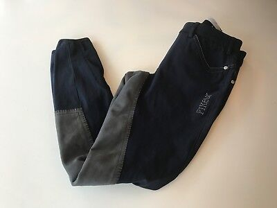 Navy Pikeur Piana Contrast  Breeches Size 10