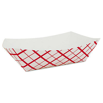 SOUTHERN CHAMPION TRAY Paper Food Baskets, Red/White Checkerboard, 10 lb