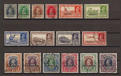 BAHRAIN 1938-41 SG 20/37 USED Cat £450