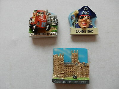 One Selected 3D Souvenir Fridge Magnet from Yorkshire Cornwall or Canterbury