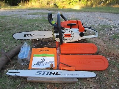 "NEW STIHL 024AV WOOD BOSS E/Quick Stop CHAINSAW 16"" &  20"" Bars MS240 MS290 NOS"