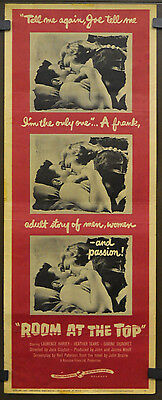 Room At The Top 1959 Original Movie Poster 14X36 Laurence Harvey Simone Signoret